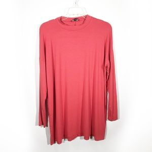 Eileen Fisher | Oversized Red-Orange Long Sleeve